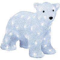 Lední medvěd akrylová LED postavička LED Konstsmide 6163-203 bílá