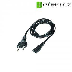 Euro síťový kabel Hawa, Y001/ST2, zástrčka euro ⇔ zásuvka C7, 1,5 m, černá