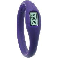 Silikonové náramkové hodinky TFA, fialová
