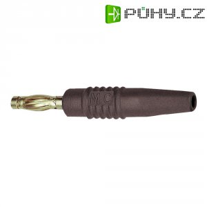 Lamelový konektor Ø 4 mm MultiContact 22.2648-27, zástrčka rovná, hnědá