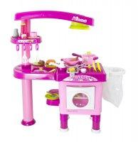 Kuchyňka dětská G21 velká s příslušenstvím růžová