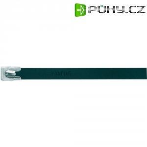 Hliníkový stahovací pásek 140 x 7,9 mm, černý, Panduit-MLT1H-LPALBL 222 N