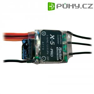 Regulátor otáček Brushless Hacker X-Pro, 5 - 10 NiCd / 2 - 3 LiPo, 5 A, JR