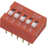 DIP spínač DS-05, standardní, 5pól.