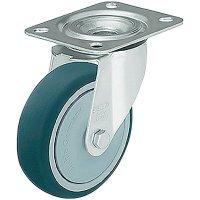 Polyuretanové otočné kolečko s konstrukční deskou, Ø 125 mm, Blickle LE-PATH 125K-FK