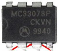 MC33078P, 2xOZ, Motorola, DIP8