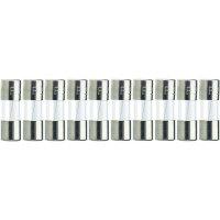 Jemná pojistka ESKA středně pomalá 515665, 250 V, 10 A, skleněná trubice, 5 mm x 25 mm, 10 ks