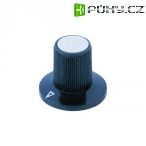 Otočný knoflík, Ø 23/13 mm, V 17 mm, 6 mm, černá