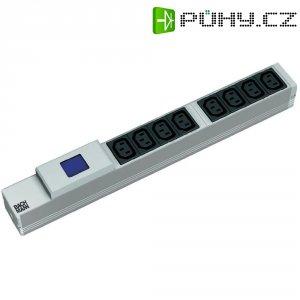 """Lišta 19\"""" s IEC zásuvkami Bachmann, 333.810, 8x C13, ampérmetr"""