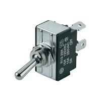 Páčkový spínač SCI R13-28D-01, 250 V/AC, 10 A, 1x zap/vyp/zap, 1 ks