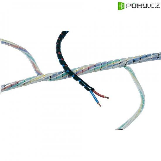 Ochranná spirála pro kabely HellermannTyton SBPE9-PE-GY-30M 161-41202, šedá, 30 m - Kliknutím na obrázek zavřete