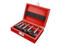 Frézy-sukovníky do dřeva, sada 5ks s SK plátky, průměry 10-20-25-30-35mm, EXTOL PREMIUM