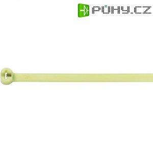 Stahovací pásky KSS CV-250HS, teplu odolné, 250 x 4,8 mm, 100 ks, světle zelená