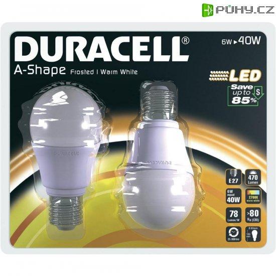 LED žárovka Duracell, 01714, E27, 6 W, 230 V, teplá bílá - Kliknutím na obrázek zavřete