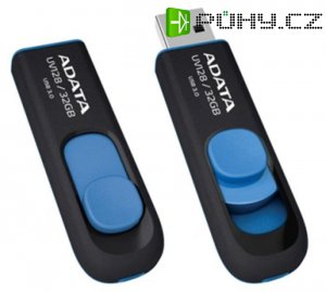 ADATA flashdisk USB UV128 32GB blue (USB 3.0)