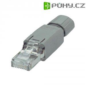 Propojovací konektor RJ45 WAGO 51198266 (750-975), IP20, zástrčka rovná, 1,75 A, šedý