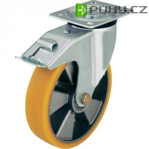 Otočné kolečko s konstrukční deskou a brzdou, Ø 160 mm, Blickle LK-ALTH 160K-FI
