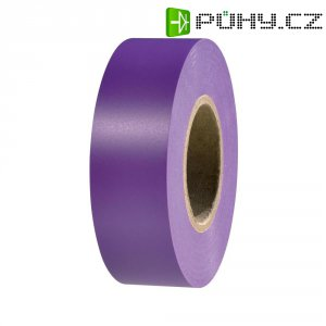 Izolační páska HellermannTyton HelaTapeFlex 15, 710-00131, 19 mm x 25 m, fialová