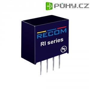 DC/DC měnič Recom RI-2415S, vstup 24 V/DC, výstup 15 V/DC, 132 mA, 2 W
