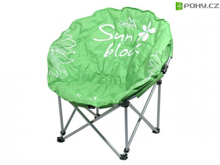 Židle kempingová skládací CATTARA FLOWERS zelená - Kliknutím na obrázek zavřete