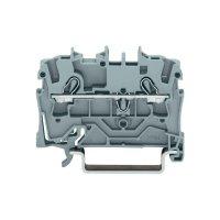 Průchozí svorka Wago 2002-1201, pružinová, 5,2 mm, šedá