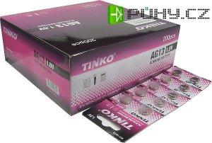 Baterie TINKO LR44 (AG13,357A) alkalická (LR1154,GP357), balení 200ks