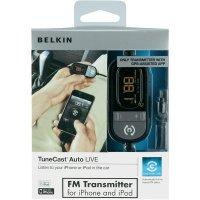 FM vysílač Belkin Tunecast Auto Live, pro iPhone/iPad/iP