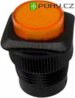 Tlačítko SCI, R13-508AL-05YL, 250 V/AC, 1,5 A, vyp./(zap.), černá/žlutá