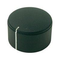 Otočný knoflík Cliff FC7253, pro sérii KMK25, 6 mm, s drážkováním, černá