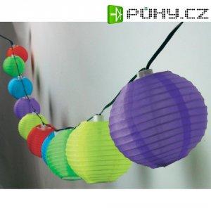 Solární párty řetěz Heitronic s lampiony, 10 LED, 3,8 m