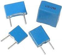6n8/100V CF2, RM=5, svitkový kondenzátor radiální