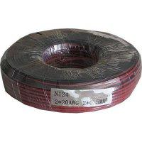 Dvoulinka 2x0,5mm2 20AWG červeno-černá, balení 100m