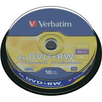Verbatim DVD+RW 4,7GB 4X 10 ks cake box