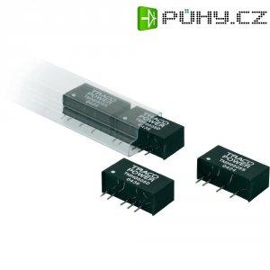 DC/DC měnič TracoPower TMH 1215D, vstup 12 V/DC, výstup ±15 V/DC, ±65 mA, 2 W
