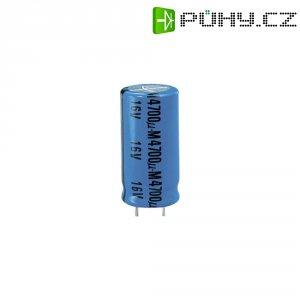 Kondenzátor elektrolytický, 2200 µF, 16 V, 20 %, 26 x 13 mm