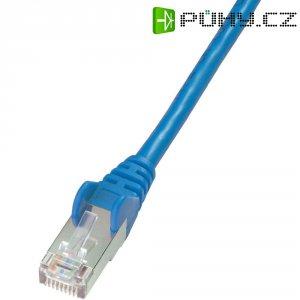 Patch kabel CAT 5e F/UTP RJ 45, vidlice ⇔ vidlice, 5 m, modrý