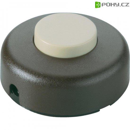 Nášlapný vypínač interBär, 1pólový, 250 V/AC, 2 A, zlatá - Kliknutím na obrázek zavřete