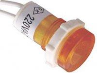 Kontrolka 230V s doutnavkou oranžová, průměr 18mm