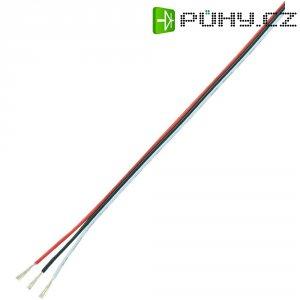 Servo kabel plochý Modelcraft, 5 m, 3 x 0.08 mm², červená/černá/bílá