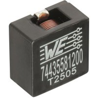 SMD vysokoproudá cívka Würth Elektronik HCI 74435581000, 10 µH, 21 A, 2212