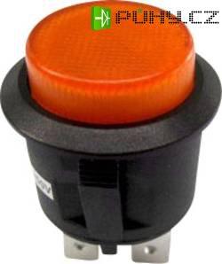 Tlačítkový spínač R13-527BL-02 žlutý NE 250VAC