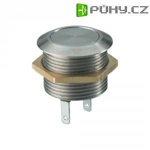 Tlačítko antivandal bez aretace MSW1801, 12 V/DC, 0.005 A, nerezová ocel, 1x vyp/(zap)
