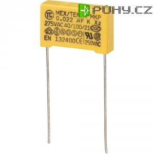 Foliový kondenzátor MKP, 0,022 µF, X2 275 V/AC, 10 %, 18 x 5 x 11 mm