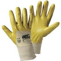 Pracovní rukavice worky Flex-Nitril, yellow 1496, Nitrilkaučuk sbavlnou, velikost rukavic: 7, S