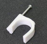 Kabelová příchytka 16mm bílá