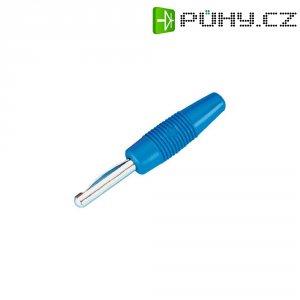 Banánkový konektor Ø pin: 4 mm SKS Hirschmann VON 20, zástrčka, rovná, modrá, 1 ks