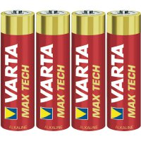 Alkalická/manganová baterie Varta Max Tech, typ AA, sada 4 ks
