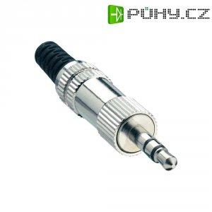 Konektor jack 3,5 mm Lumberg KLS 44, zástrčka rovná, 3pól./stereo, stříbrná