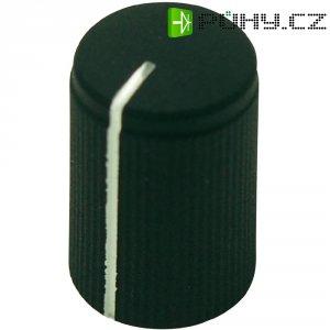 Otočný knoflík Cliff FC7251, pro sérii KMK10, 6 mm, s drážkováním, černá