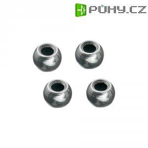 Ocelové kuličky Reely, 7 x 5 mm, otvor 3 mm (MV112)